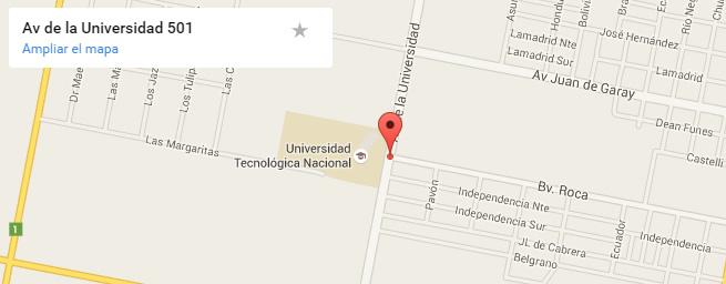 Ver ubicación de la Facultad en pantalla completa